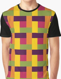 Fruit Tree Block Pattern Graphic T-Shirt