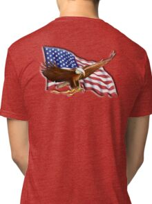 AMERICAN, PATRIOT, independence, Eagle, War, Flag, America, Bald Eagle, USA, Bird of Prey Tri-blend T-Shirt