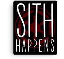 Sith Happens | Logo version Canvas Print