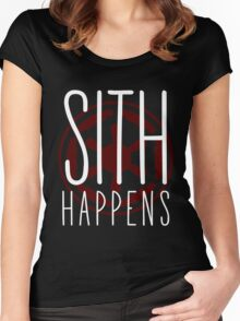 Sith Happens   Logo version Women's Fitted Scoop T-Shirt