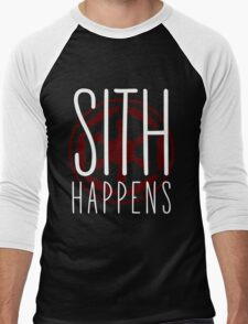 Sith Happens   Logo version Men's Baseball ¾ T-Shirt