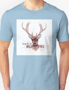 Deer and bare branches vector design object. T-Shirt