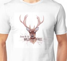 Deer and bare branches vector design object. Unisex T-Shirt