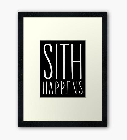 Sith Happens | Blank version Framed Print