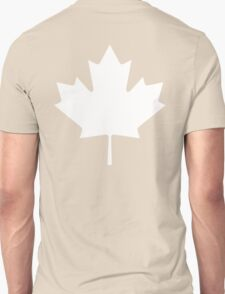 MAPLE LEAF, CANADA, CANADIAN, WHITE, Pure & Simple, Canadian Flag, National Flag of Canada, 'A Mari Usque Ad Mare' T-Shirt