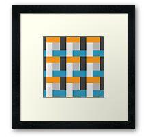 Royal Blue Block Pattern Framed Print