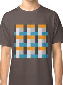 Royal Blue Block Pattern Classic T-Shirt