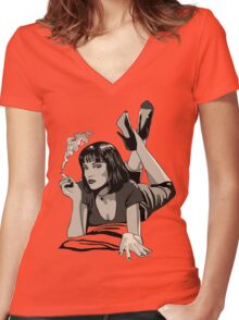 PULP Women's Fitted V-Neck T-Shirt