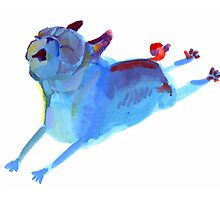 Blue Leaper by inkpug