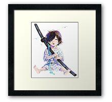 Little Samurai Framed Print