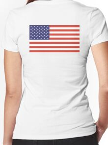 Stars and Stripes, Pure & Simple, American Flag, American, America, USA Women's Fitted V-Neck T-Shirt