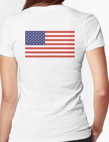 Stars and Stripes, Pure & Simple, American Flag, American, America, USA Womens Fitted T-Shirt