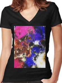 Stars in their Eyes Women's Fitted V-Neck T-Shirt