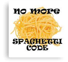 Spaghetti Code Canvas Print