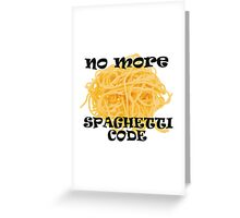 Spaghetti Code Greeting Card