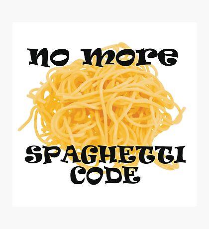 Spaghetti Code Photographic Print