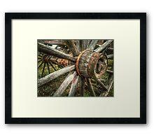 Old West Wagon Wheel Framed Print