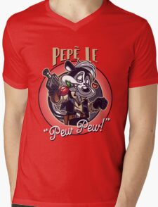 Pepe Le Pew Pew! Mens V-Neck T-Shirt