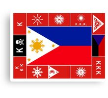 Philippine Flags Canvas Print