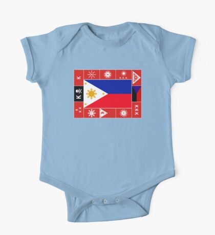 Philippine Flags One Piece - Short Sleeve