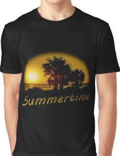 Sunset Scene at the Coast of Montevideo Uruguay Graphic T-Shirt