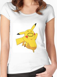 Pokemon: Pikachu :O Women's Fitted Scoop T-Shirt