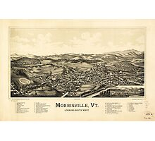 Bird's Eye View Map Morrisville Vermont (1889) Photographic Print