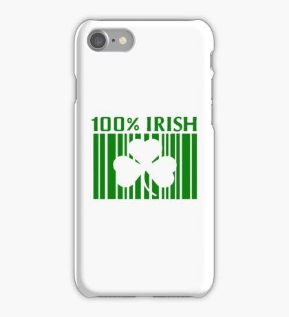 100% Irish St. Patricks Day iPhone Case/Skin
