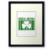 100% Irish St. Patricks Day Framed Print