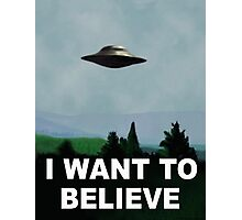 I want to believe x files Photographic Print