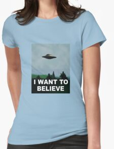 I want to believe x files Womens Fitted T-Shirt