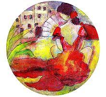 Flamenco pueblo contemplation 1 Photographic Print