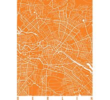 Berlin map orange Photographic Print