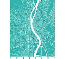 Budapest map turquoise Photographic Print