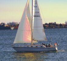Sailing Away ~ San Diego, California Sticker