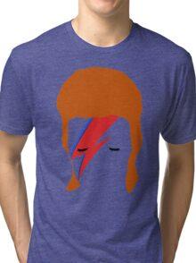 BOWIE FACE Tri-blend T-Shirt