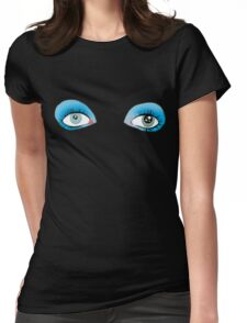 David Bowie's Eyes Womens Fitted T-Shirt