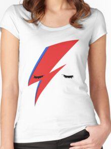 BOWIE ALADDIN SANE Women's Fitted Scoop T-Shirt