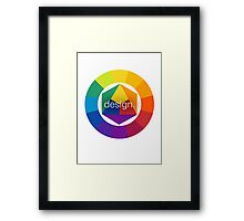 Design Colour Wheel Framed Print