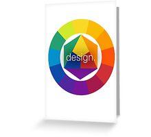 Design Colour Wheel Greeting Card