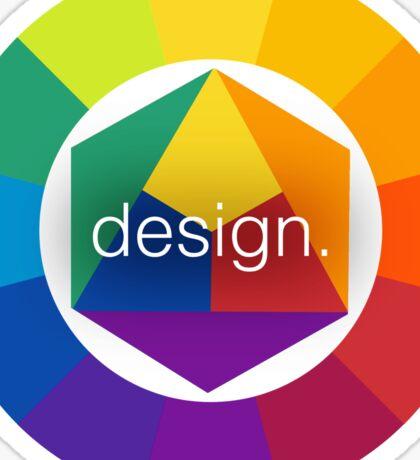 Design Colour Wheel Sticker