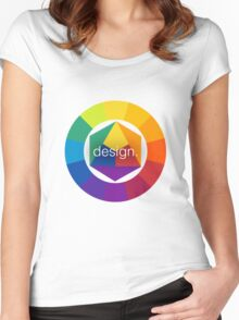 Design Colour Wheel Women's Fitted Scoop T-Shirt