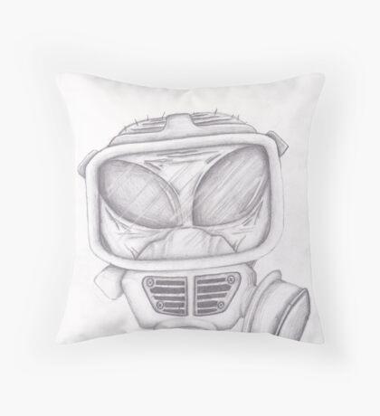 The Alien Needs A Respirator Throw Pillow