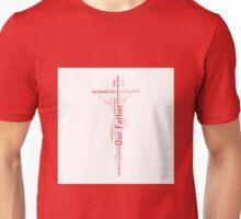 Lord's Prayer Cross - Brown/Red Unisex T-Shirt