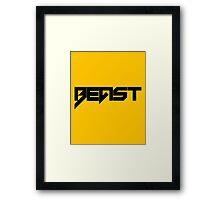 Beast - version 1 - Black Framed Print