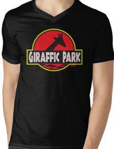 Giraffic Park Mens V-Neck T-Shirt