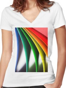 Paper Women's Fitted V-Neck T-Shirt
