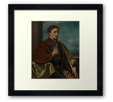 Italian, Portrait of a Young Woman, Framed Print