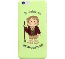 Bilbo Baggins going on an adventure! iPhone Case/Skin