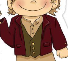 Bilbo Baggins going on an adventure! Sticker